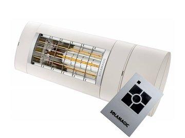 Solamagic S1 aanbieding 2KW, dimmer en afstandsbediening. Wit RAL9010